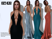 .byCrash Full perm mesh-Deep V cut gown KUPRA ONLY