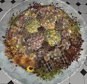 CJ Autumn Wreath Table Hydrangea with Berry