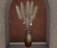 CJ Pampas Grass with Cotton Branches in copper Vase Box - add