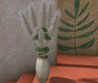 CJ Pampas Grass with Papyrus in ceramic Vase