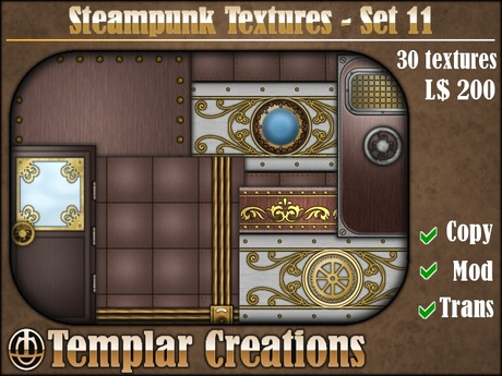 Steampunk Textures - Set 11