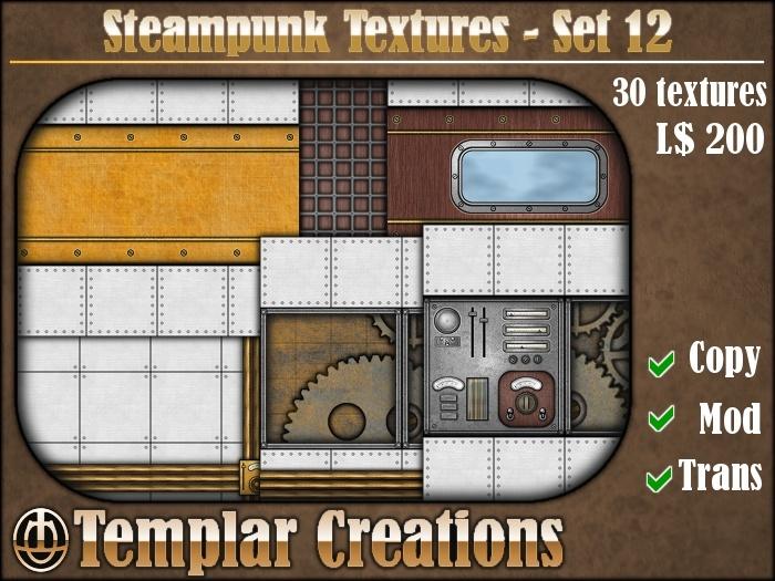 Steampunk Textures - Set 12