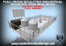~Full perm sculpted Industrial roof kit + Maps  (Only on Marketplace) Items apart for sale see related items!