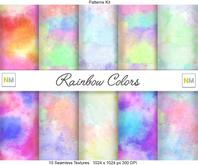 Rainbow Colors Wallpaper Builders Kit 10 Seamless Textures NM