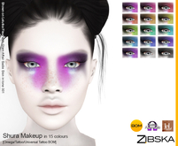 Zibska ~ Shura Makeup in 15 colors with Omega appliers, tattoo and universal tattoo BOM layers