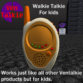 Ventalkie Toddler Radio