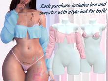 Lunar - Joss Bra & Sweater - Bubblegum Pink