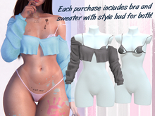 Lunar - Joss Bra & Sweater - Grey