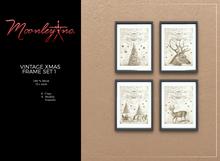 Moonley Inc. - Vintage Xmas Frame Set 1
