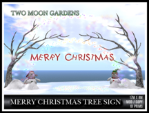 TMG - MERRY CHRISTMAS TREE SIGN*