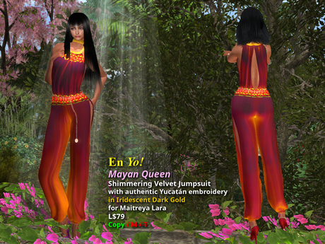 En Yo! Mayan Queen Jumpsuit in Dark Gold for Maitreya