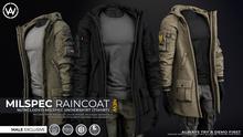 [WAZ] Milspec Raincoat Applier (Olive) [HUD]