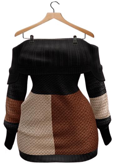 BUENO-Lexi Sweater Dress-Block