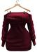 BUENO-Lexi Sweater Dress-Berry