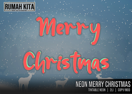 Rumah Kita - Neon Merry Christmas Text