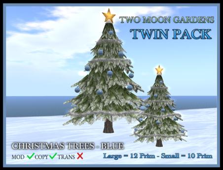 TMG - CHRISTMAS TREES - BLUE TWIN PACK*