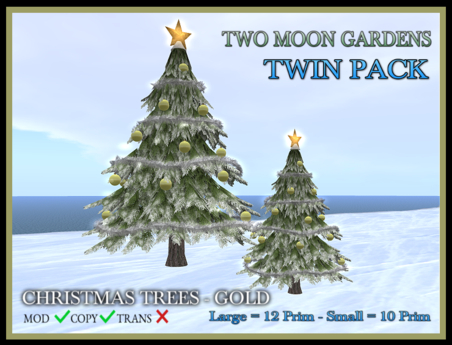 TMG - CHRISTMAS TREES - GOLD TWIN PACK*
