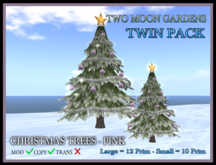 TMG - CHRISTMAS TREES - PINK TWIN PACK*