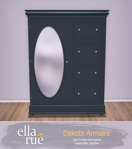 EllaRue - Dakota Armoire With Mirror {Black}