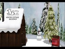 K.D Cottage Winter Backdrop - Wear me/Touch me