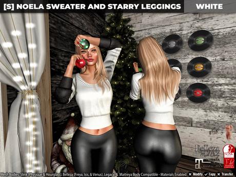 [S] Noela Sweater & Starry Leggings White