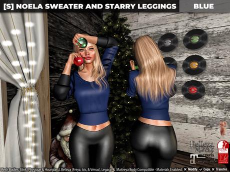 [S] Noela Sweater & Starry Leggings Blue