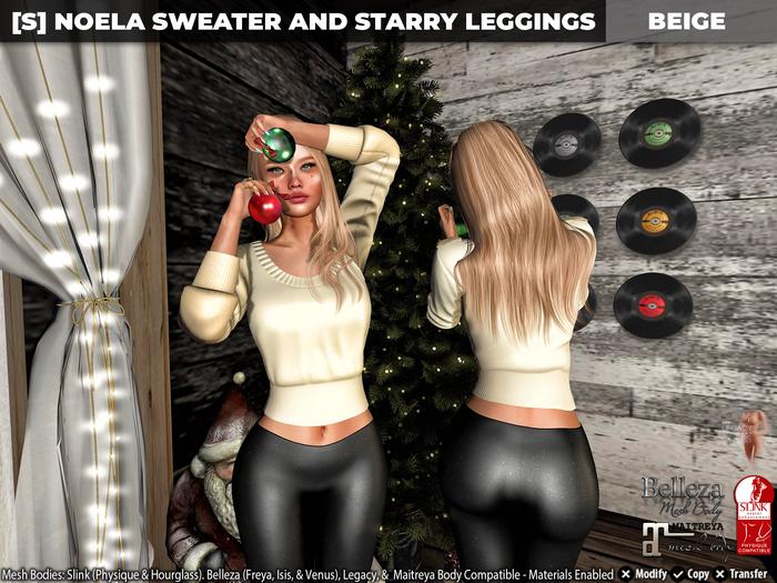 [S] Noela Sweater & Starry Leggings Beige