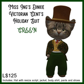Miss Ing's Dinkie Victorian Gents Holiday Suit Green