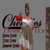 CFA Tan Criss Cross Santa Cutie Dress( boxed)