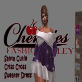 CFA DRK Purple Criss Cross Santa Cutie Dress(Boxed)