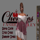 CFA Pink Criss Cross Santa Cutie Dress (Boxed)