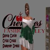 CFA Green  Criss Cross Santa Cutie Dress(Boxed)