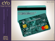 cYo Credit Card, mesh, material and Photoshop file