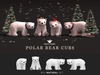 +Half-Deer+ Polar Bear Cub [Natural]