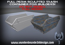 ~Full perm sculpted Trash container + Maps and texture!