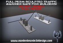 ~Full perm sculpted Traffic barrier Gate + Maps and texture! Only on marketplace!