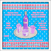[: Kawaii Couture :] Cutie Cocktails Serving Tray Purp