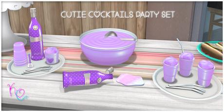 [: Kawaii Couture :] Cutie Cocktails Party Set - Purple