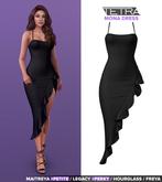 TETRA - Mona ruffle dress (Black)