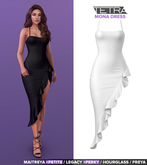 TETRA - Mona ruffle dress (White)