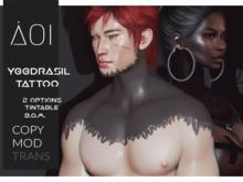 < Aoi > Yggdrasil Tattoo - Unisex