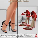 DPB Jeweled Jennys Heels - Red  *Maitreya, Slinks & Bellezas*