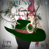 Christmas Cowboy Strong Grn Stone's Works