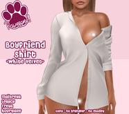 [Pawesome!] Boyfriend Shirt - White Velvet