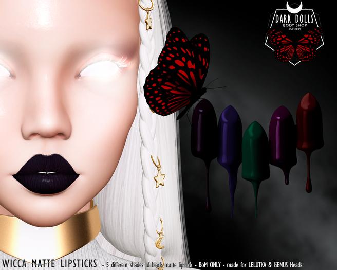 DARK DOLLS - Wicca Matte Lipstick