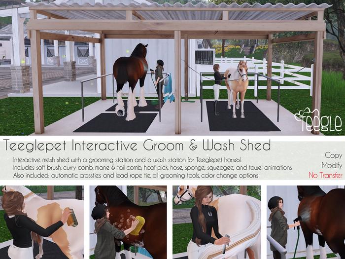 [Teegle] Teeglepet Interactive Groom & Wash Shed