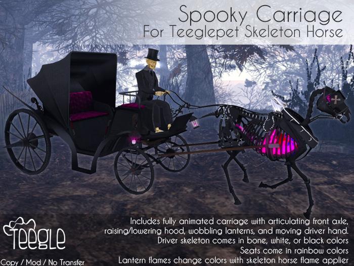 [Teegle] Spooky Carriage for Teeglepet Skeleton Horse