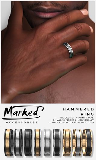 MARKED - Hammered Ring