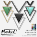 MARKED - Triangle Pendant Necklace