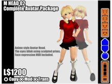 M HEAD 02 Complete Avatar Package